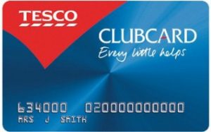 Collect Tesco Clubcard points