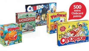 500 extra Clubcard points when you buy Hasbro gaming