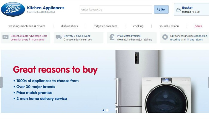 Buy your next kitchen appliance through Boots Kitchen Appliances and you'll collect four Boots Advantage Card points for every £1 you spend.