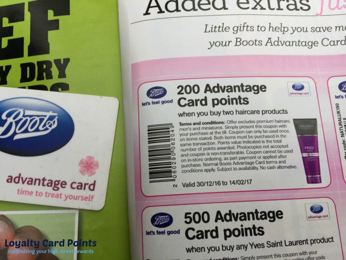 200 Advantage Card Points Coupon when your buy two haircare products