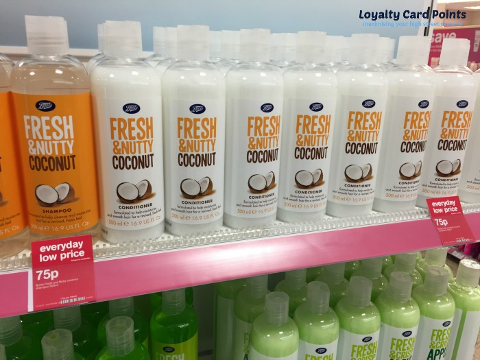 Boots Fresh Shampoo and Conditioner is 75p