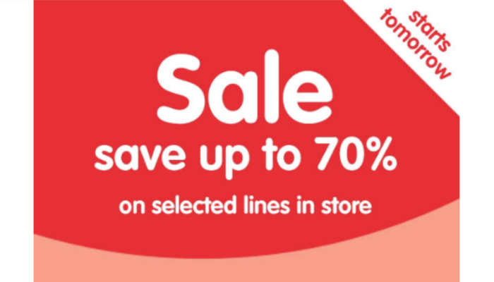 Boots 70% off sale starts