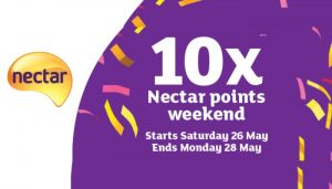10x Nectar points weekend